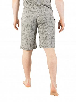 Emporio Armani Grey All Over Print Pyjama Shorts
