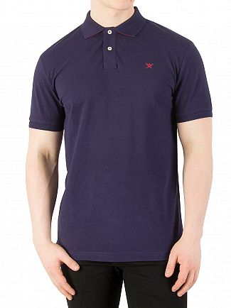 Hackett London Navy Classic Logo Poloshirt