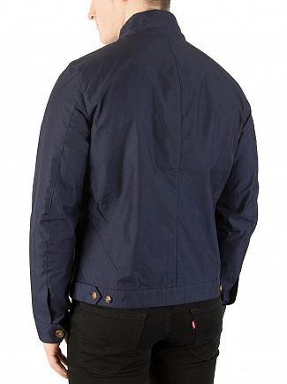 Hackett London Navy Mr Classic Harrington Jacket