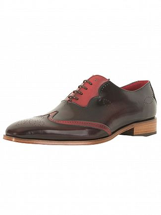 Jeffery West College Burgundy/Tucuman Burgundy Capone Polished Leather Shoes