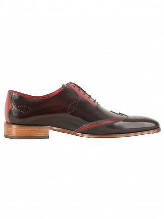 Jeffery West College Burgundy/Tucuman Burgundy Capone Polished Leather Shoes