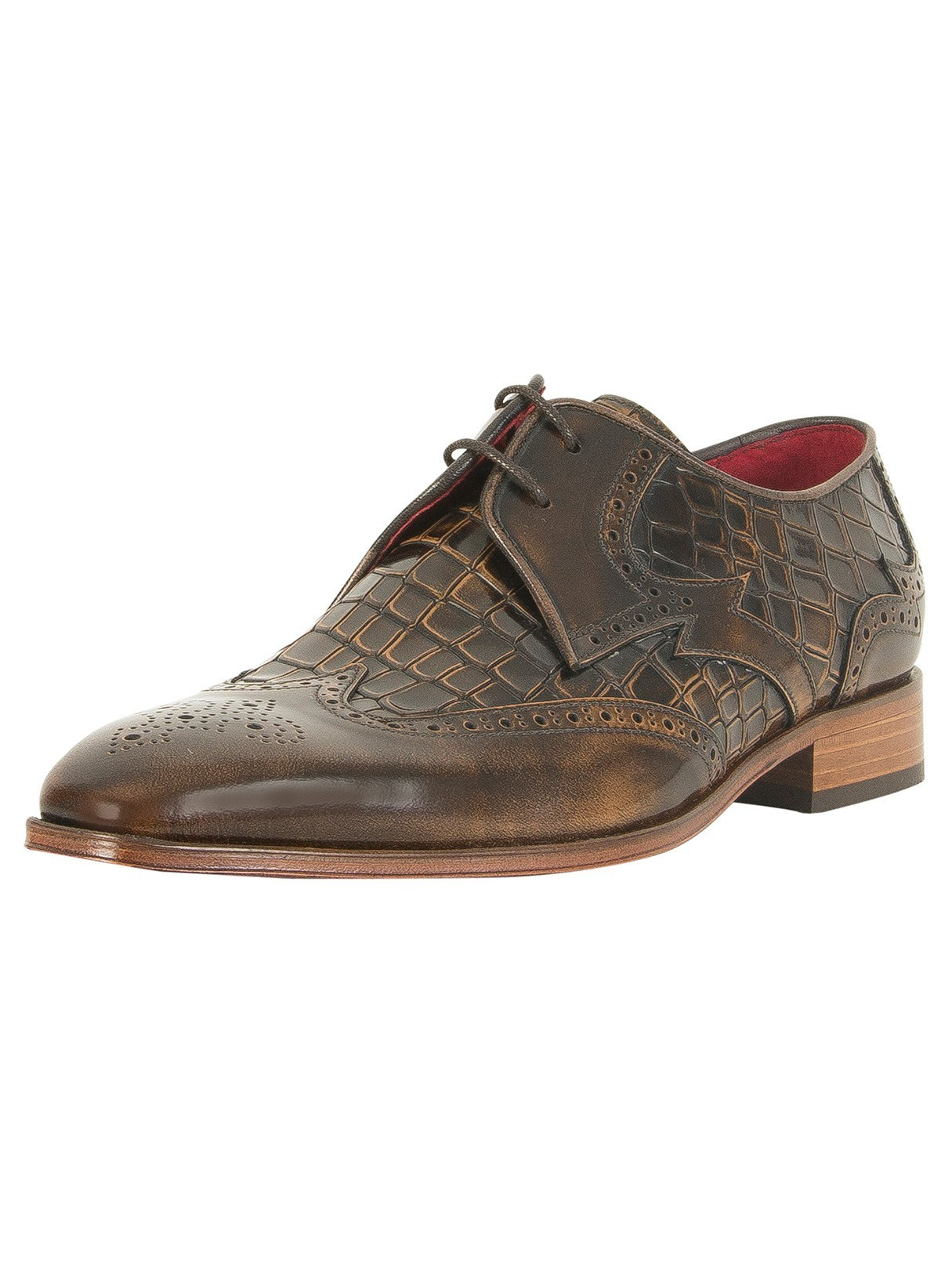 Stand-out.net Jeffery West College Camel/Antick Camel Capone Polished Leather Shoes