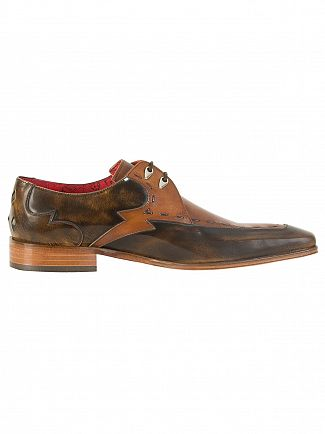 Jeffery West College Camel/Toledo Castano Scarface Polished Leather Shoes