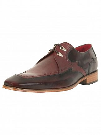 Jeffery West College Burgundy/Toledo Burgundy Scarface Polished Leather Shoes