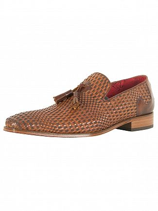 Jeffery West Pasado Castano/Toledo Castano Scarface Tan Leather Shoes