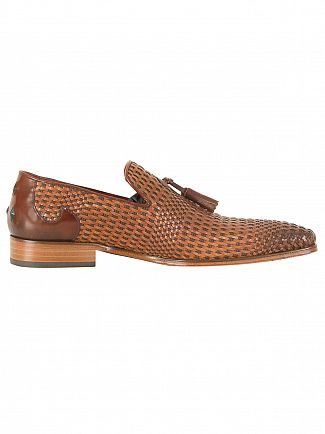 Jeffery West Pasado Castano/Toledo Castano Scarface Tan Leather Shoes
