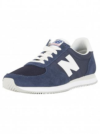 New Balance Navy 220 Suede Trainers