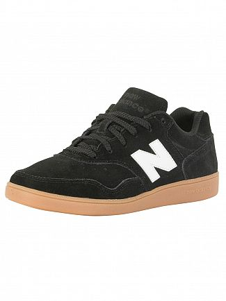 New Balance Black/White 288 Suede Trainers