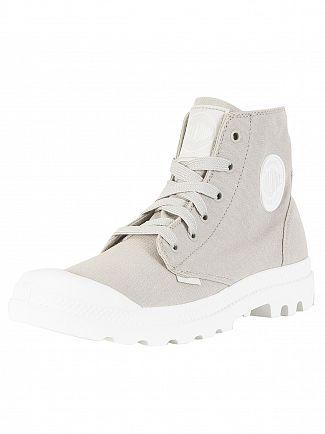 Palladium Vapor/White/White Pampa HI Blanc Boots
