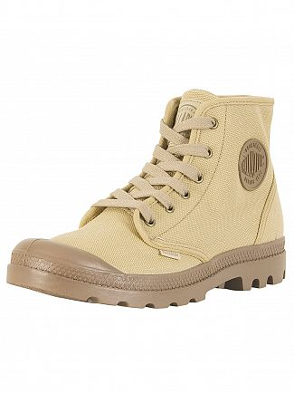 Palladium Stonewashed Dark Khaki US Pampa High Boots