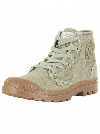 Palladium Vetiver/Mid Gum US Pampa High Boots