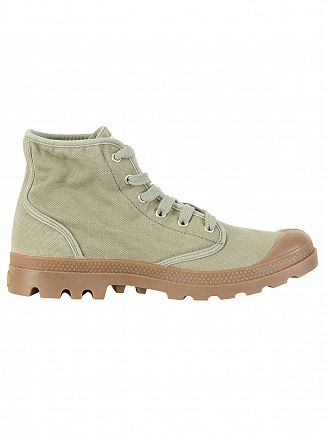 Palladium Vetiver/Mid Gum US Pampa High Boots