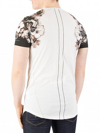 Religion White Wild Night Shoulder Print T-Shirt