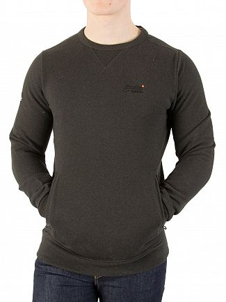 Superdry Deep Night Marl Space Dye Orange Label Urban Sweatshirt