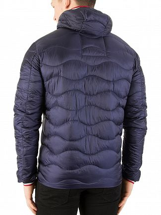 Superdry Navy Wave Quilt Jacket