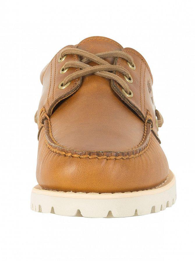 Timberland Homme Chilmark 3 Eye Hands Chaussures bateau en cuir, Bleu