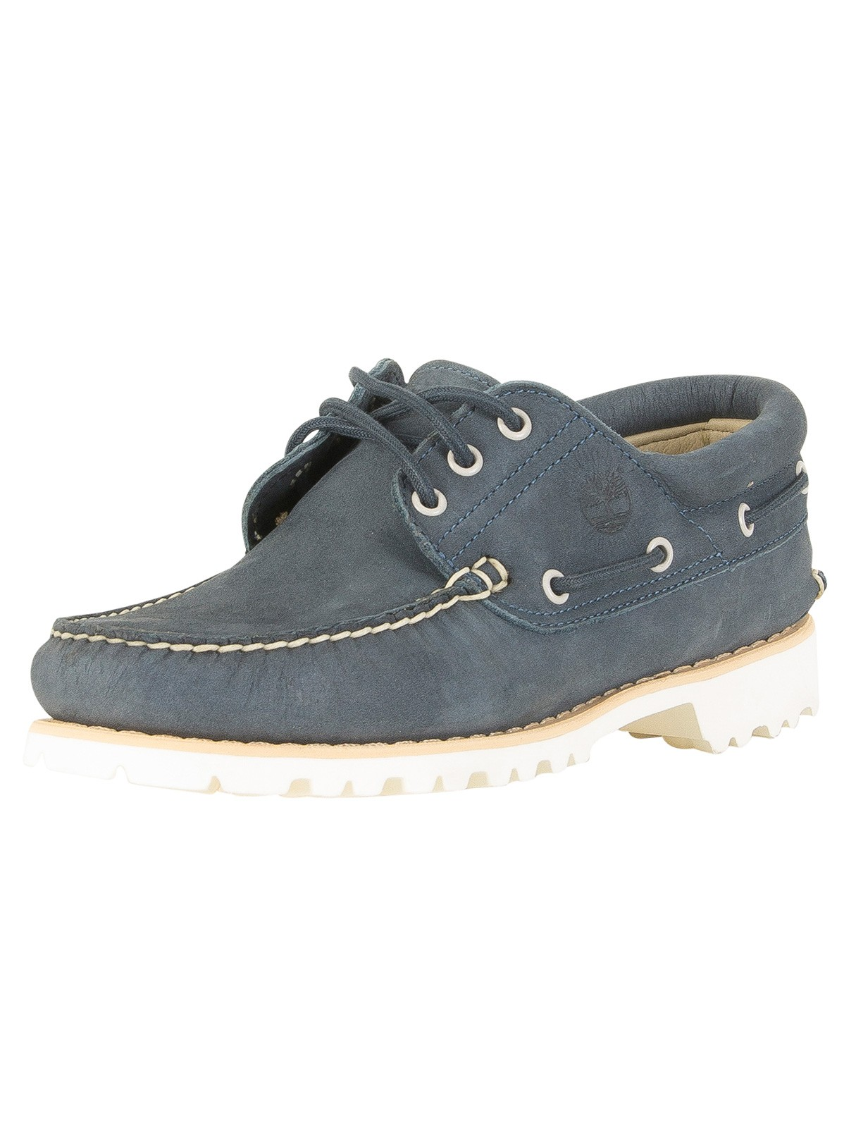 3e910385dc2 Timberland Navy Chilmark 3 Eye Hands Leather Boat Shoes