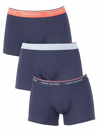 Tommy Hilfiger Navy 3 Pack Premium Essentials Trunks