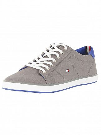 Tommy Hilfiger Steel Grey Flag Canvas Trainers