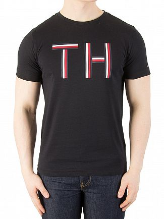 Tommy Hilfiger Jet Black Graphic T-Shirt