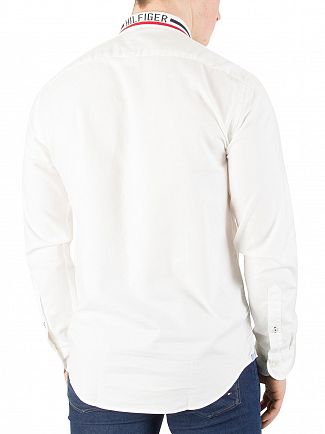 Tommy Hilfiger Bright White Rib Collar Shirt