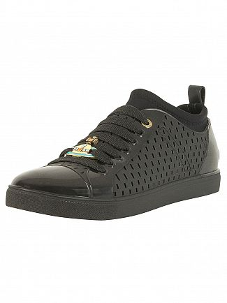Vivienne Westwood Black Sneaker Orb Leather Trainers