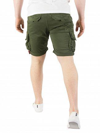 Alpha Industries Dark Olive Crew Cargo Shorts