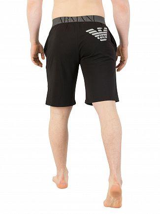 Emporio Armani Black Logo Pyjama Shorts
