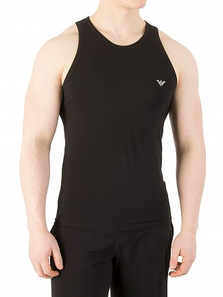 Emporio Armani Black Stretch Cotton Vest