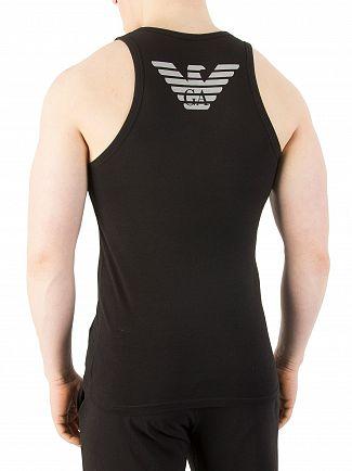 Emporio Armani Black Stretch Cotton Vest