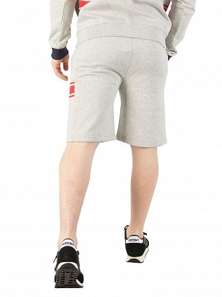 Fila Vintage Light Grey Marl Mivvi Panelled Sweat Shorts