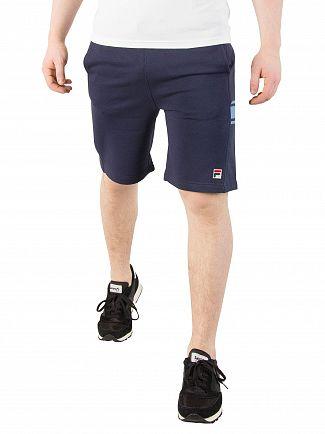 Fila Vintage Peacoat Mivvi Panelled Sweat Shorts