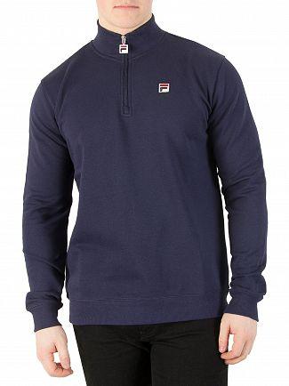 Fila Vintage Peacoat Palermo Zip Sweatshirt
