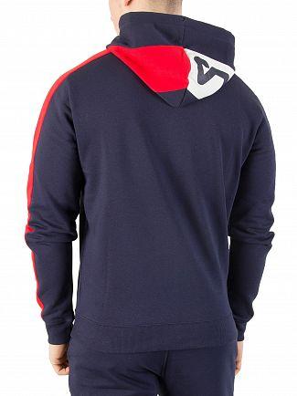 Fila Vintage Peacoat/Red/White Stan Cut & Sew Zip Hoodie