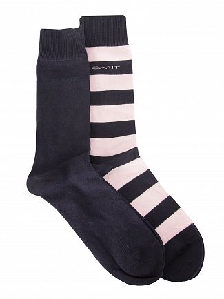 Gant Shadow Rose 2 Pack Bar Stripe Socks