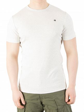 G-Star White Heather RC Slim Fit Unstand T-Shirt