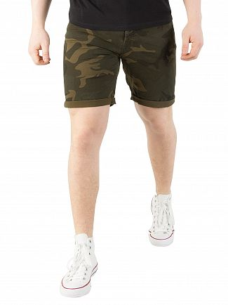 Jack & Jones Forest Night/Camo Rick Original Comfort Fit Shorts
