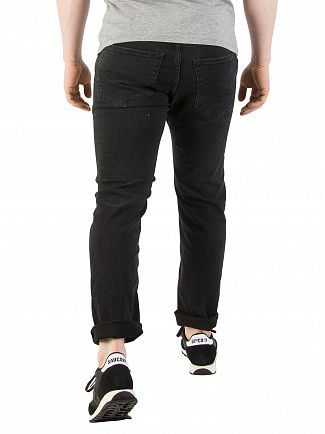 Jack & Jones Black Denim Tim Original 703 Slim Fit Jeans