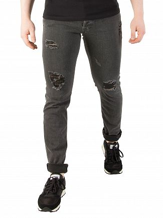 Jack & Jones Grey Denim Tim Original 704 Slim Fit Jeans
