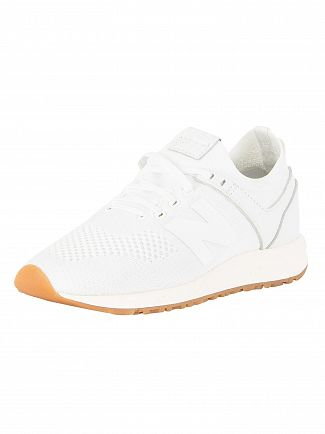 New Balance White/Gum 247 Trainers