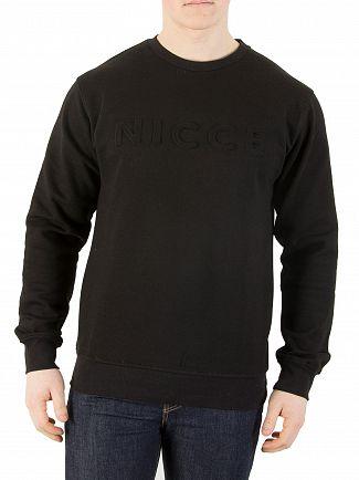 Nicce London Black Emboss Sweatshirt