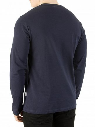 Nicce London Navy/White/Blue Longsleeved Panel T-Shirt