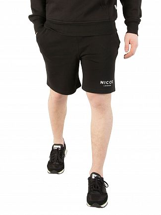 Nicce London Black Original Logo Shorts