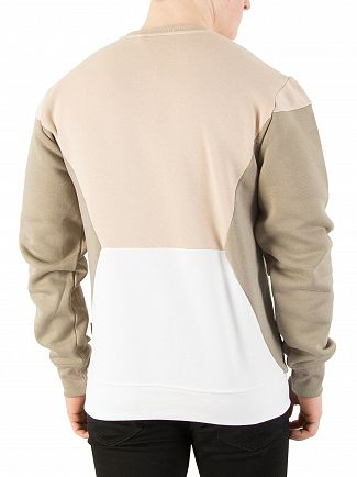 Nicce London Sand/Sage/Grey Panelled Sweatshirt