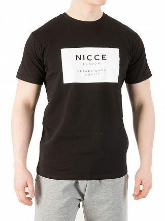 Nicce London Black Raised Rubberised T-Shirt