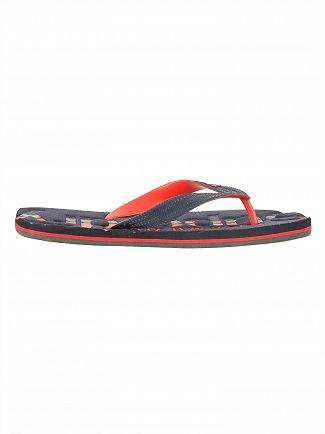 Superdry Darkest Navy/Red Tricolour Flip Flops
