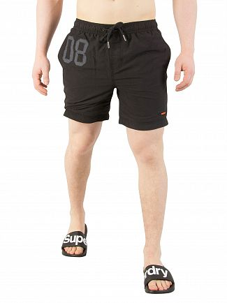 Superdry Black Water Polo Swim Shorts