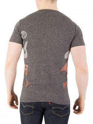 Superdry Vintage Black Grit XL Premium Goods Fade T-Shirt