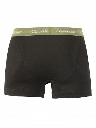Calvin Klein Black/Olivine/Sky View 3 Pack Cotton Stretch Trunks