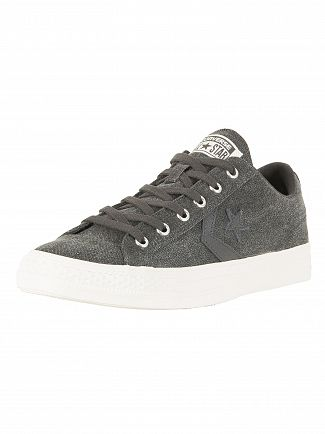 Converse Almost Black/Almost Black Star Player OX Trainers